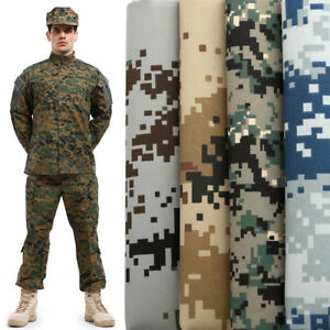 """Camouflage Military Army Fabric Jungle Camo Cloth Shirts Bags Material 59"""" Width"""