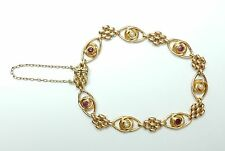 Antique Garnet and Pearl Bracelet 15 Carat Rose Gold Circa 1890