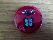 Pin badge: I needed Help so got my Beatles movie ticket NB modern reproduction
