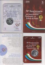 Italia Italien 5 euro € 50° Ann. Polizia di Stato argento silver st bu 2018