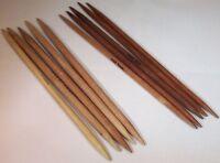 """Surina Wood 7"""" Double Point Knitting Needles Sizes 0-19"""
