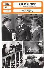 FICHE CINEMA : GUERRE AU CRIME - Robinson,Blondell 1936 Bullets Or Ballots