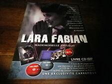 LARA FABIAN - Publicité de magazine / Advert !!! MADEMOISELLE ZHIVAGO !!!