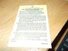 1970 1971 1972 1973 1974 CHEVROLET BLAZER CHEYENNE EL CAMINO CRUISE CONTROL TAG