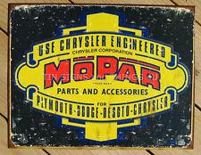 MOPAR TIN SIGN Chrysler Parts metal vintage logo 1314