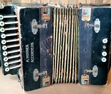 ANTIQUE EARLY 20TH CENTURY M HOHNER WOOD ACCORDION GERMANY ACORDEON BEST MADE