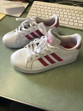 adidas Grand Court K White/Pink Girl's Sneakers - Size 13 kids EG5136  ms1