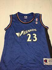 Vintage Michael Jordan Wizards Size Youth Medium 10-12 NBA Jersey Champion Air