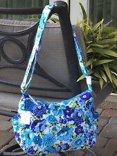 VERA BRADLEY ON THE GO BAG PURSE SHOULDER HOBO BLUE in BLUEBERRY BLOOMS $78 NEW