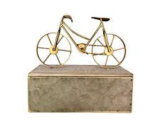 Golden Bicycle Decorative Storage Box, Jewelry Box, Home Decor Gift