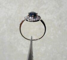 1.40ctw 10k White Gold Black Diamond with Diamond Accents Size 7