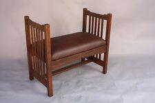 1910 Arts & Crafts Oak Bench Fits Mission Monterey Craftsman Art Nouveau (8430)