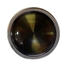 Carlo Biagi Coin CABOCHON SMOKEY QUARTZ Silver Tone Jewelry C-20