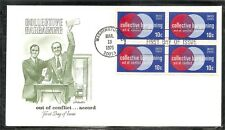US Scott # 1578 Collective Bargaining  FDC. BLK4 , Artmaster cachet.