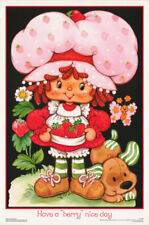 LOT OF 2 POSTERS :STRAWBERRY SHORTCAKE - HAVE A BERRY (BLACK)  #FL3322S   RC46 G