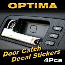 Interior Door Catch Black Carbon Decals Sticker 4Pcs for KIA 2011-2015 Optima K5