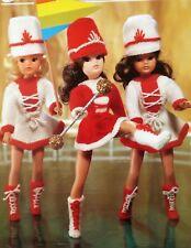 VINTAGE KNITTING PATTERN barbie/sindy poupées vêtements majorette Outfit 4 Ply E6789