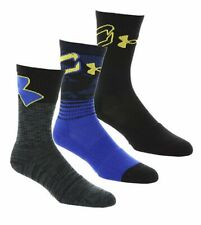 Boys Under Amour Phenom Socks 3 pack Curry SC30 Y Small Shoes (13.5K to 4Y)