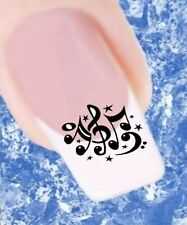 20 Nail Tattoos Noten schwarz  463 Sticker Nailart