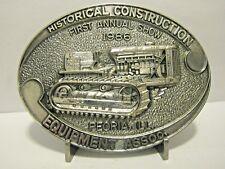 Caterpillar Diesel Crawler Tractor Belt Buckle HCEA 1st Show 1986 Peoria Ltd Ed