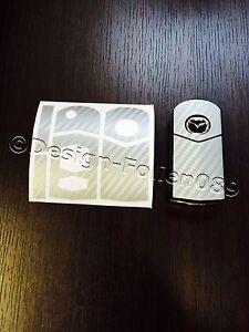 Carbon silber Folie Schlüssel Mazda RX8 NC 2 3 5 6 MX5 SL CX 7 CX  9 uvm