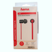 """Hama In-Ear Kopfhörer Headset """"Pro"""", Schwarz - Rot 15658"""