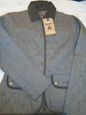 Barbour Linen Shell Wynchwood Quilted Jacket NWT size 8 USA $299  Grayish Brown
