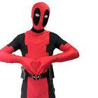 Children Deadpool Costume Zentai Superhero Fullbody Halloween Cosplay Kids New