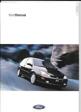 FORD FOCUS CL, ZETEC, ZETEC 2.0i, LX  AND GHIA CAR  SALES BROCHURE MARCH 2000