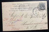 1901 Port Elizabet Cape Good Hope South Africa Stationery Postcard Cover To USA