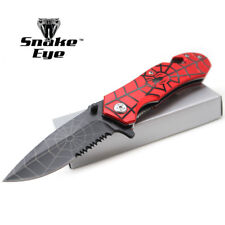 "Snake Eye Tactical Spider Collection Style Spring Assist Knife 4.5"" Closed"