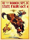 State Fair Rodeo - 1930s Cowboy Roan Vintage Western Poster - 24x32