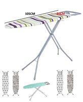 Folding Metal Ironing Board Iron Rack Non Slip Feet Foldable Adjustable Height