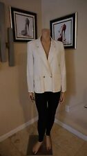 Vintage traditional blazer 80's style from blassport by Bill Blass in bone color
