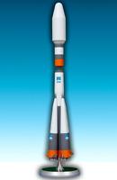 "Handmade ""Soyuz Cargo"" launch vehicle 1/144 metal scale model"