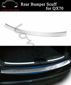 Fits for Infiniti QX70 FX 35 37 50 2009-2018 Rear Door Plate Cover Sill Trim
