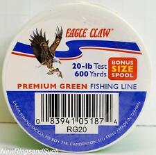 Eagle Claw Premium Green fishing line 20 lb test 600 yards