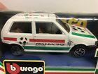 BURAGO 1/43 diecast FIAT UNO diecast ITALIA 90 #4119