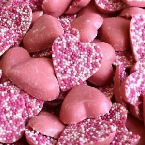 PINK HEARTS CHOCOLATE VALENTINES DAY SPECIAL LOVE  JAZZLES *RETRO SWEETS