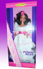 Barbie Dolls Of The World PUERTO RICAN 1996 NRFB NUOVA PERFETTA SCATOLA OTTIMA