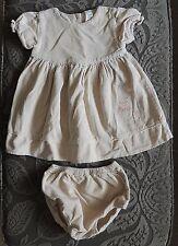 TU Winnie The Pooh Beige Corduroy Dress Set Nappy Cover Knickers Size 6-9 Months