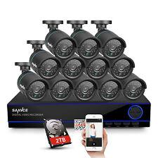 SANNCE 16CH HD 1080N HDMI DVR 12x720P 1500TVL TVI IR Security Camera System 2TB
