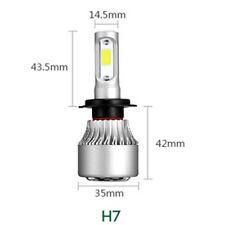 H7 8000LM COB LED Car Headlight High Low Hi/Lo Conversion Beam Bulbs 6000K Power