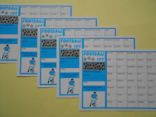 SCRATCH CARDS - FOOTBALL THEMED - 40 SPACES X5 - GREAT FUNDRAISER RAISE £100