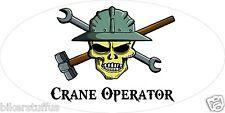 CRANE OPERATOR SKULL HELMET STICKER HARD HAT STICKER TOOL BOX STICKER