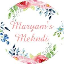 GLOSS FLOWER BIRTHDAY BRIDAL MEHNDHI  STICKERS PERSONALISED CELEBRATION LABELS
