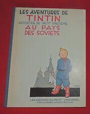 Hergé. AU PAYS DES SOVIETS.  Fac similé noir et blanc 1930. Tirage 1984