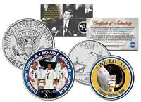 APOLLO 12 SPACE MISSION 2-Coin Set US Quarter & JFK Half Dollar NASA ASTRONAUTS