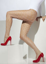 Ladies White Wide Hole Fishnet Tights