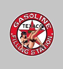 Texaco oil petrol diesel decal Sticker Badge tank Fairing pin up girl garage
